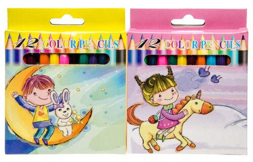 Buntstifte Buntstift Stifte Malstifte 12 Farben Farbstifte einfach 9 cm