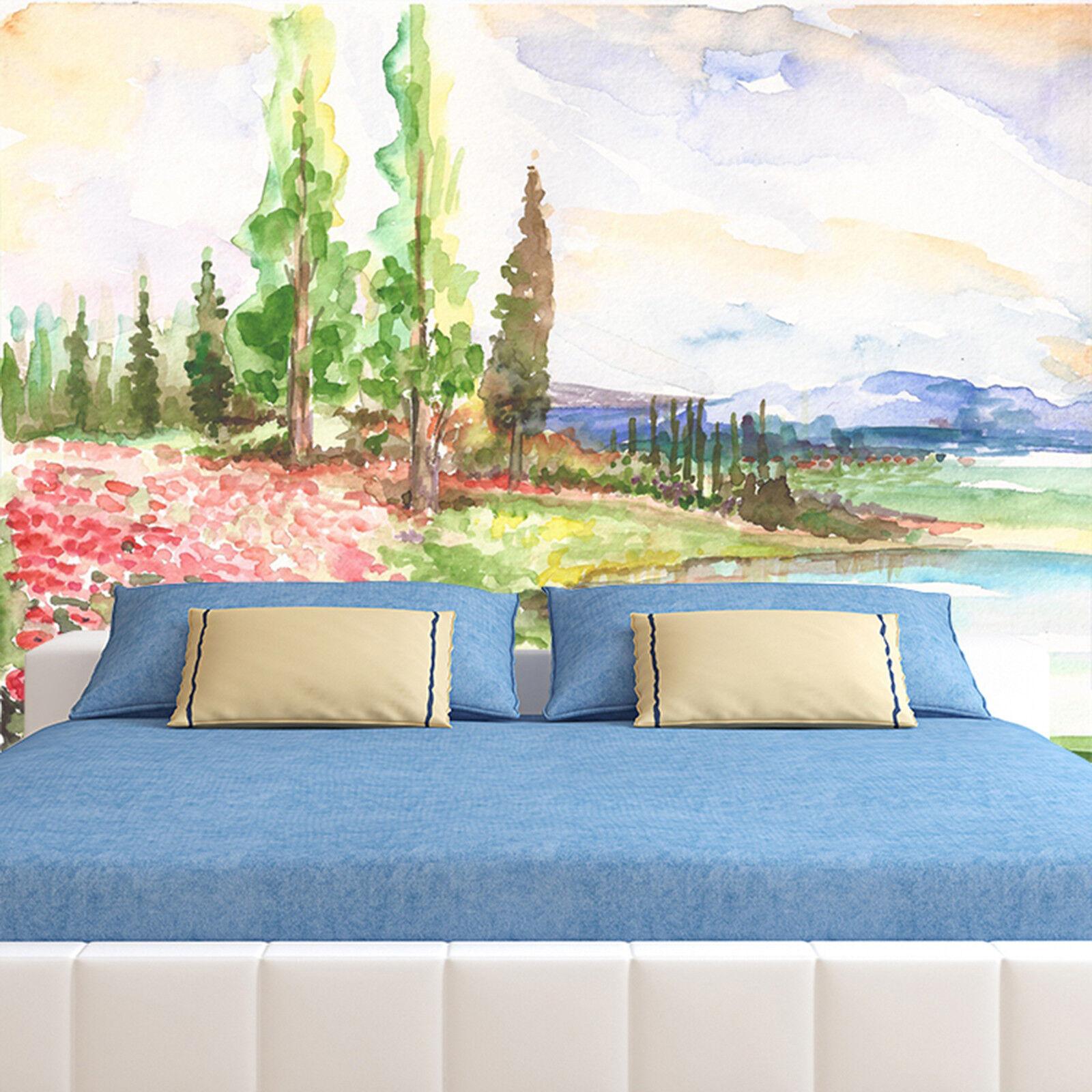 3D Ölgemälde Landschaft 893 Tapete Wandgemälde Tapeten Bild Familie DE Lemon