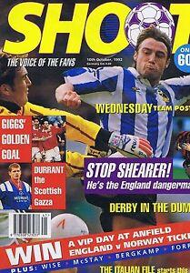 SHEARER-SHEFFIELD-WED-DERBY-IPSWICH-Shoot-10-Oct-1992