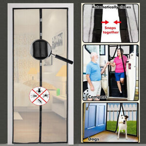 Mosquito-Door-Net-Mesh-Screen-Bug-Fly-Pet-Patio-Hands-Free-Magnetic-Magic-Closer