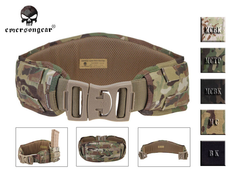Emerson Padded Molle Combat Waist Belt Military Tactical Hunting Belt MC Khaki