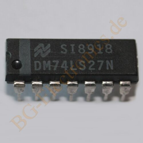 2 x DM74LS27N Triple 3-Input NOR Gates NS DIP-14 2pcs