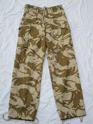 British DPM Desert Camo Windproof pants new,non-issued Size 82-88-104 I32 W35
