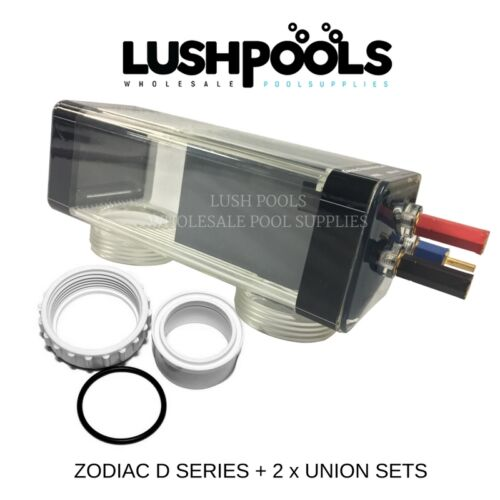 Zodiac Clearwater D15 GENERIC Self Cleaning Salt Cell + UNIONS  - 5 YR Warranty