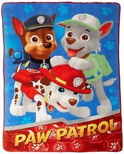 Nick Jr Paw Patrol All Paws on Deck Micro Raschel Blanket 62 by 90 ...