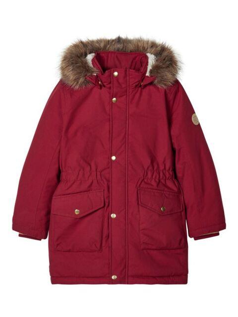 Winter Mädchen Coat Kid Kapuze Gepolstert Dick Parka Langes Fell Warme Jacke