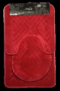 3PC-BATHROOM-SET-RUG-CONTOUR-MAT-TOILET-LID-COVER-PLAIN-SOLID-COLOR-BATHMAT