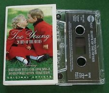 Too Young Hits of Fifties Jackie Wilson Pet Clark + Cassette Tape - TESTED