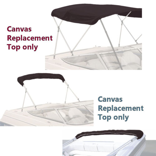 "BIMINI TOP BOAT COVER CANVAS FABRIC BLACK W//BOOT FITS 3BOW 72/""L 36/""H 91/""-96/""W"