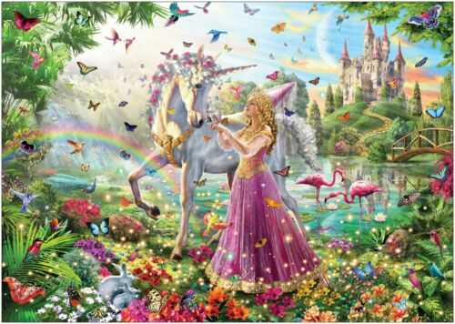Princess Unicorn Beautiful Magical Fantasy Large CANVAS A0 A1 A2 A3 A4 Sizes