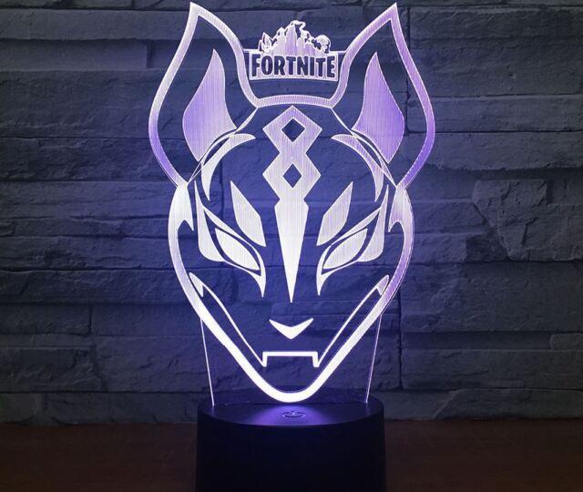468ba766e FORTNITE Tiger LED Tischlampe 3D Leselampe Nachtlicht Nachttischlampe 7  Farbe