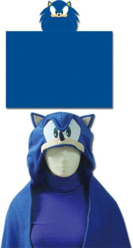 """REAL Sonic the Hedgehog GE-34020 Sonic Head Hoodie Blanket 57/"""" x 41/"""""""