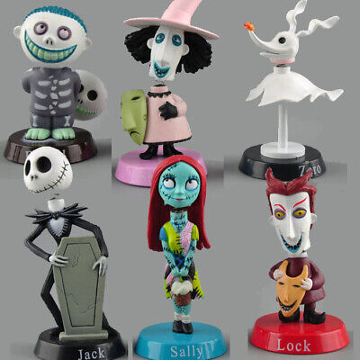 The Nightmare Before Christmas Figures Lot of 6 pcs Set Jack Sally Cake topper