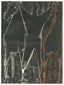 MARINI Marino - Chevaux et cavalier. Lithographie originale - 1951.