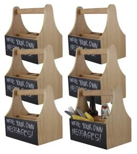 Magnificent Details About 6X Wooden Cutlery Condiment Utensil Sauce Holder Table Caddies With Chalkboard Download Free Architecture Designs Scobabritishbridgeorg