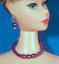Barbie Dreamz PURPLE PLUM Graduated Pearl Necklace Doll Jewelry