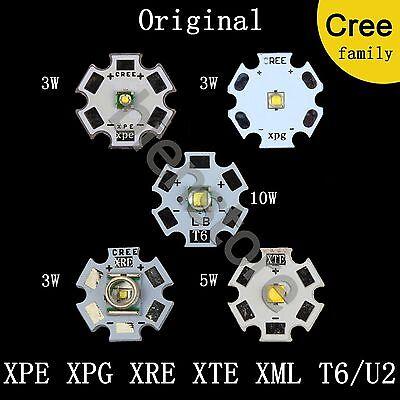 Original CREE LED Light XPE XPG XRE Q5 XTE XM-L2 3W5W 10W Warm Cool Red Blue