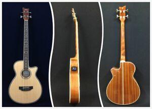 4-String Haze 3/4 Size Acoustic Bass Guitar,Nat w/EQ+Free Gig Bag |FB-711BCEQ/N| | eBay