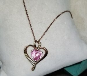385c73aae Kay Jewelers Kays 18k Rose Gold/Sterling silver Pink Heart pendant ...