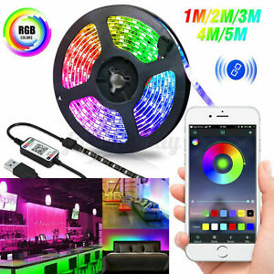 5V-USB-LED-Strip-Light-TV-Back-Light-5050-RGB-Color-Change-Bluetooth-APP-Control