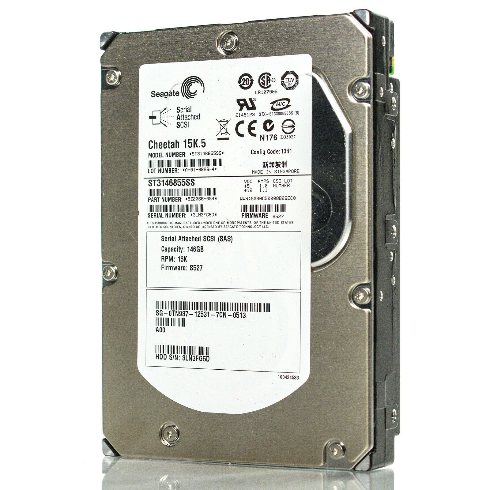 "Seagate Cheetah 3.5/"" 146GB 15K 16MB 3Gbps SAS Server HDD Hard Drive ST3146855SS"