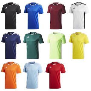Ragazzi ADIDAS ENTRADA 18 Climalite manica corta T Shirt Top Calcio Giovanile Junior  </span>