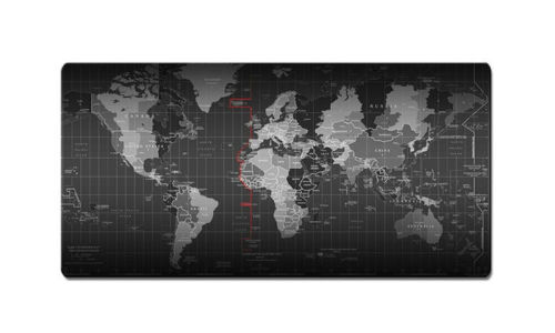 "Large 800x300x2MM World Map Gaming Mouse Computer Anti Slip Mat 31/"" x 11 3//8/"""