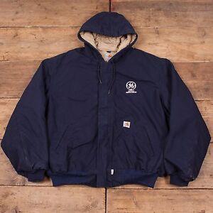 Hombre-Vintage-Carhartt-Edredon-Forrado-Chaqueta-Con-Capucha-Workwear-tarea-XXL-54-034-R5243
