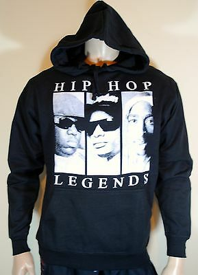Rap Collage Mens Hip Hop Hoodie Biggie Smalls Tupac Eazy-E NWA Eminem Dr Dre