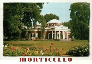 Remarkable Details About Monticello Home Of Thomas Jefferson Charlottesville Virginia President Postcard Home Interior And Landscaping Synyenasavecom
