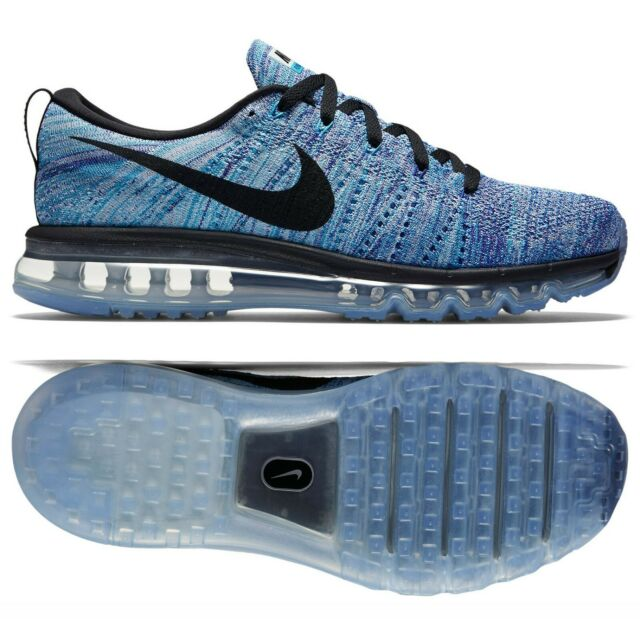 best service 0a511 50c7c Nike Flyknit Air Max 620469-104 Chlorine Blue/Black Men's Running Shoes Sz  10