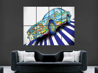 TRIPPY POSTER PSYCHEDELIC ABSTRACT  PICTURE GIANT WALL ART HUGE IMAGE