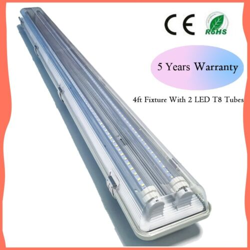 4FT 36W Garage Shop Light Fixture With 2 x 18W T8 Led 40W Integrated Led Fixtur