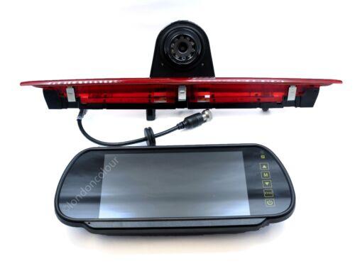 "Kit Monitor 7/"" de Clip en Ford Transit IR LED Luz de Freno Rearview cámara de reversa"