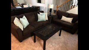 RC Willey Couch and Loveseat set in brown. Good condition ...