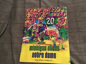 1972-Michigan-State-Spartans-football-program-vs-Notre-Dame