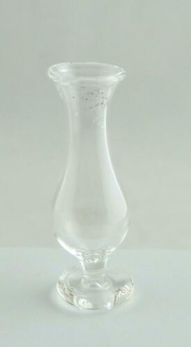 Dolls House Miniature 1:12 Scale Ornament Accessory Glass Footed Flower Bud Vase