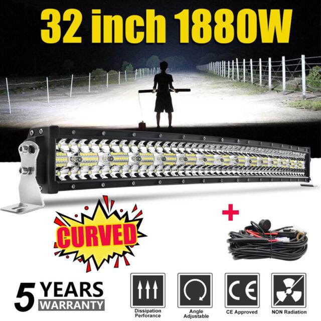 "Curved 32"" 1880W Barre LED Light Bar combiné SUV ATV 4x4WD phare de travail Ramp"