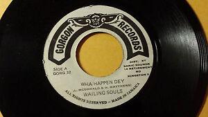 Wailing-Souls-Wha-Happen-Dey-Reggae-7-034-on-Gorgon-Label-Orig