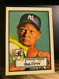 Donald-Trump-1952-Style-ACEO-Baseball-Art-Mantle-Gangsta-Parody-MINT