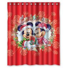 NEW Disney Characters Christmas Print Shower Curtain 60x72 66x72