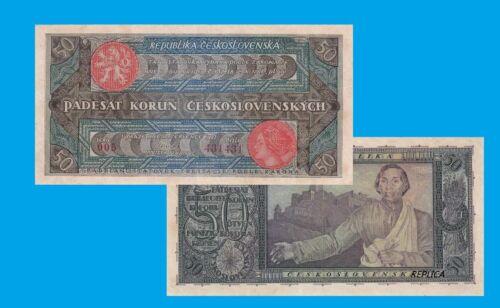Czechoslovakia 50 Korun 1920 UNC Reproduction