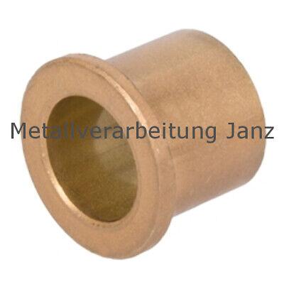 Sinterbronze Buchse mit Bund Dr 25//30//35 x 20 mm Gleitlager für 25 mm Welle