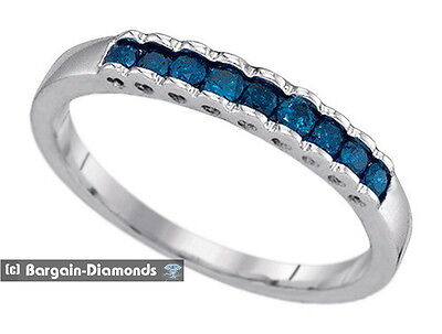 blue diamond .25-carat wedding anniversary 10K gold ring enhancer birthday love