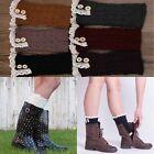 Fashion Womens Crochet Knit Lace Trim Leg Warmers Cuffs Toppers Boot Socks