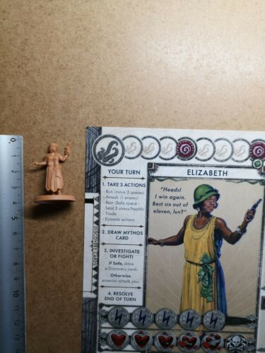 Elisabeth ives investigator miniature card//cthulhu death may die//nip g184