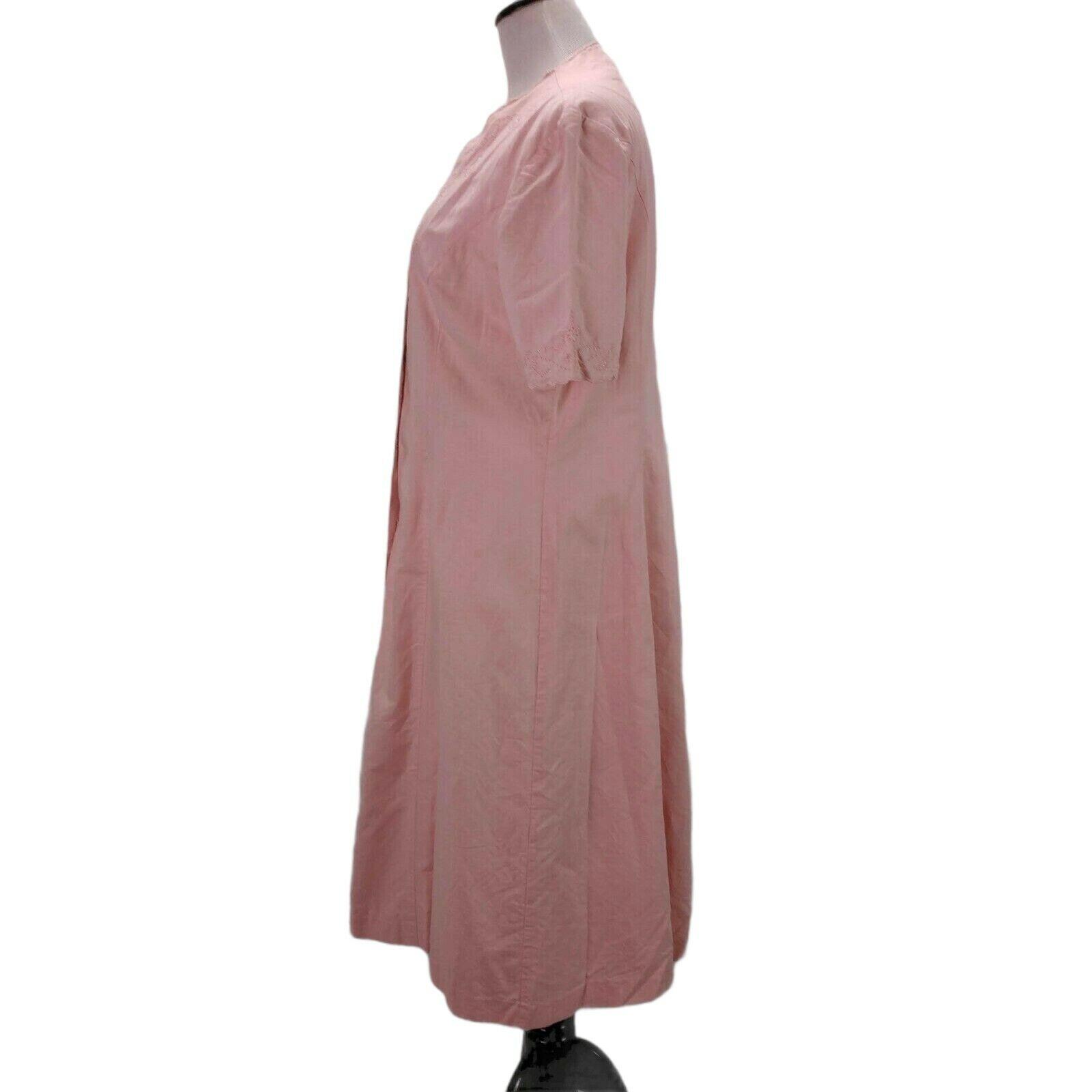 Vintage Laura Ashley Linen Eyelet Dress Size 14 P… - image 5