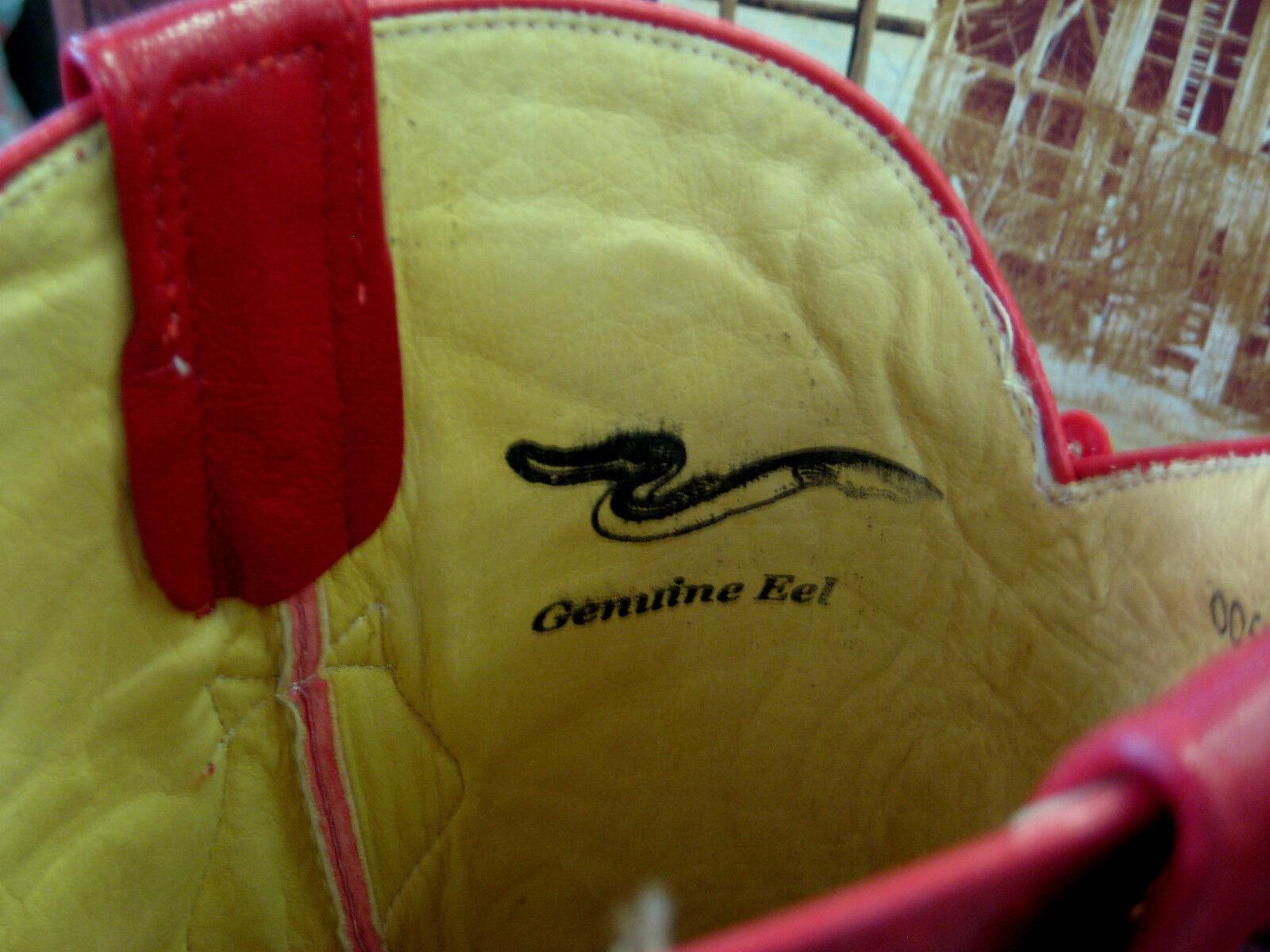 LOS ALTOS Uomo rosso GENUINE EEL WESTERN COWBOY avvio avvio avvio J-TOE (EE+) 990812 3569a1