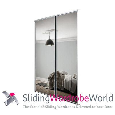 2 X Spacepro Sliding Wardrobe Doors, Replacement Mirror For Sliding Wardrobe Door