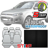 Ford Territory Black Cotton Canvas Seat Covers Custom Fit 2rows Sx/sy/sy Mkii/sz